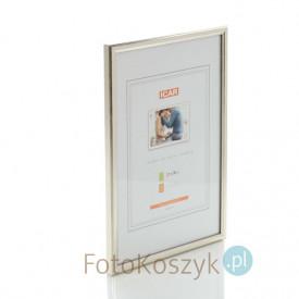 Ramka drewniana srebrna (na zdjęcie 21x30 cm