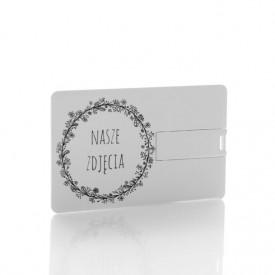 Pendrive karta kredytowa Nasze Zdjęcia B&W (do wyboru pojemność 2-32 GB)