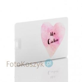 Pendrive karta kredytowa serce Dla Ciebie (do wyboru pojemność 2-32 GB)