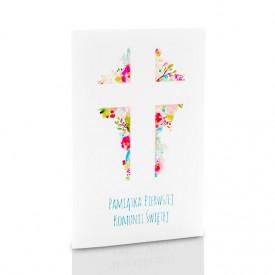 Mini-Album Komunijny TS krzyż na trzy zdjęcia 15x21
