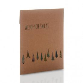 Koperta kraft świąteczny las na zdjęcia 15x21 i 15x23