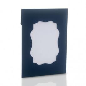Ozdobna koperta na zdjęcia 15x21 lub 15x23 z okienkiem (granatowa)