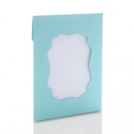 Ozdobna koperta na zdjęcia 15x21 lub 15x23 z okienkiem (niebieska)