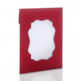 Ozdobna koperta na zdjęcia 15x21 lub 15x23 z okienkiem (czerwona)