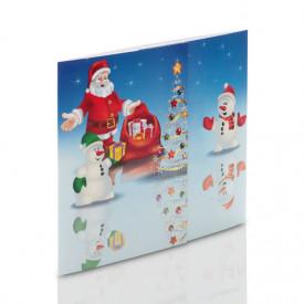 Mini-Album mikołaj - zestaw: 2 zdjęcia 15x21 + zakładka na CD