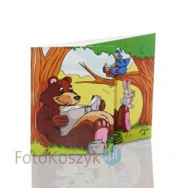 Mini-Album Miś  - zestaw: 2 zdjęcia 13x18 + zakładka na CD