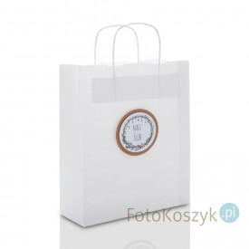 Biała torebka Nasz Ślub b&w (3 rozmiary do wyboru)