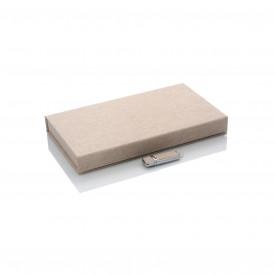 Zestaw beżowy pendrive + pudełko na zdjęcia i pen