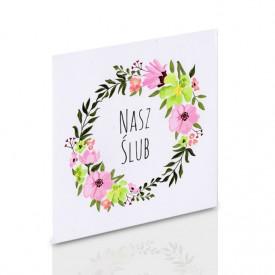 Obwoluta TS Nasz Ślub kwiaty (na płytę CD/DVD)
