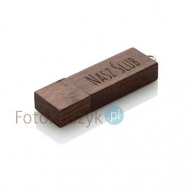 Pendrive Nasz Ślub MG-USB 3.0 ciemne drewno (8GB)