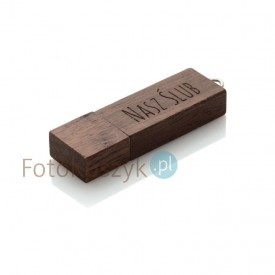 Pendrive Nasz Ślub MG-USB 3.0 ciemne drewno (64GB)