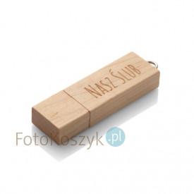 Pendrive Nasz Ślub MG-USB 2.0 jasne drewno (32GB)