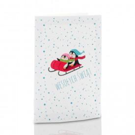 Mini-Album TS świąteczny pingwinki zestaw: 2 zdjęcia 15x21 + zakładka na CD