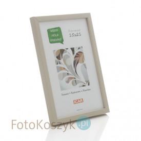 Ramka drewniana Pinia kremowa (na zdjęcie 15x21 cm)