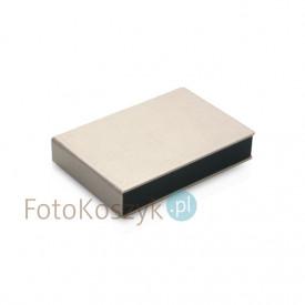 Pudełko na odbitki 15x23 Er Hand srebrne + miejsce na CD/DVD