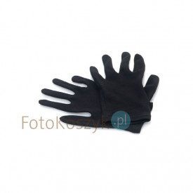 Czarne rękawiczki bawełniane dla fotografów