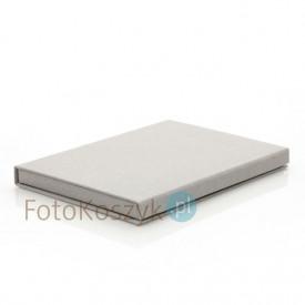 Pudełko SF linum pastel szare na zdjęcia 13x18 (do 50 zdjęć)