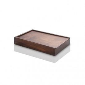 Drewniane, bejcowane pudełko na odbitki 15x23 i pendrive