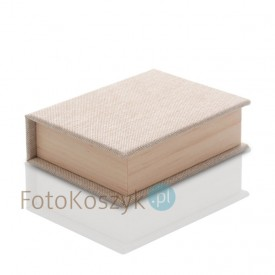 Pudełko na Pendrive płótno+drewno