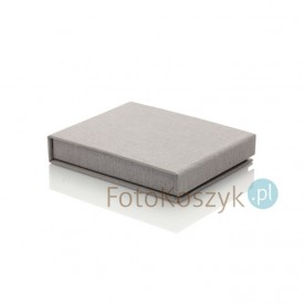 Uniwersalne Pudełko na Pendrive linum pastel szare (magnes)