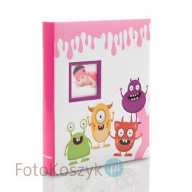 Album na zdjęcia dziecięce Spookies różowy (40 stron pod folię)