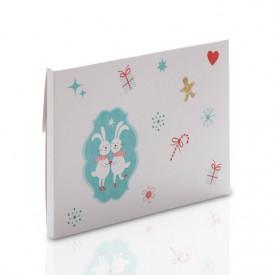 Grubsza teczka świąteczna zajączki na zdjęcia 15x21