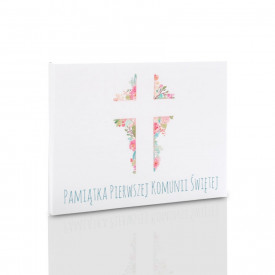 Teczka komunijna krzyż na zdjęcia 15x23