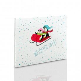 Teczka świąteczna pingwinki na zdjęcia 15x21