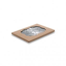 Teczka z ryflowanej tektury z okienkiem na zdjęcia 13x18