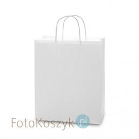 Biała torba LUX papierowa (3 rozmiary do wyboru)