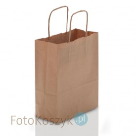 Brązowa torba LUX papierowa (3 rozmiary do wyboru)
