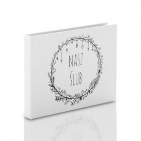 Pudełko na pendrive drewniany TS Nasz Ślub B&W