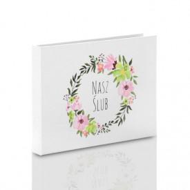 Pudełko na pendrive drewniany TS Nasz Ślub kwiaty