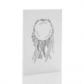 Album TS Leporello 15x23 Łapacz Snów b&w (5 czarnych kart)
