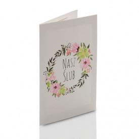 Mini-Album TS Nasz Ślub kwiaty na dwa zdjęcia 15x21