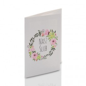 Mini-Album TS Nasz Ślub kwiaty zestaw: 3 zdjęcia 15x21