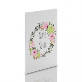 Album TS Leporello 15x21 Nasz Ślub kwiaty (5 białych kart)