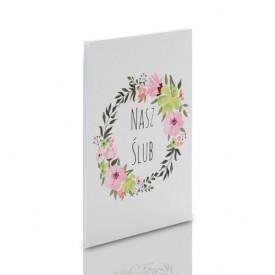 Album TS Leporello 10x15 Nasz Ślub kwiaty (5 białych kart)