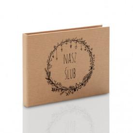 Pudełko na pendrive drewniany TS Nasz Ślub kraft