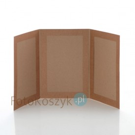 Mini-album kraft TS na trzy zdjęcia 15x23