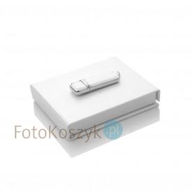 Zestaw biały pendrive w pudełku