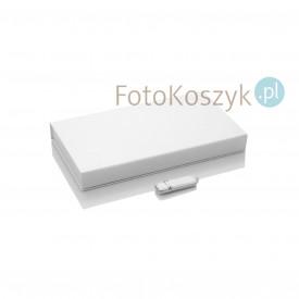 Zestaw biały pendrive + pudełko na zdjęcia i pen