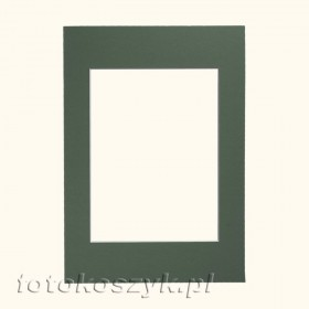 Zielone Passe-partout do ramki 13x18