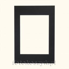 Czarne Passe-partout do ramki 10x15