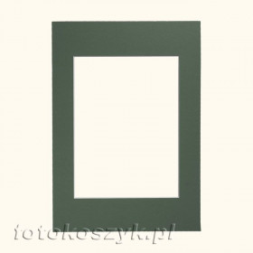 Zielone Passe-partout do ramki 10x15