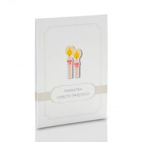 Album TS Leporello 15x21 chrzest (5 białych kart)