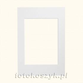 Białe Passe-partout do ramki 10x15