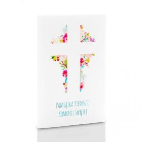 Mini-Album Komunijny TS krzyż na dwa zdjęcia 13x18