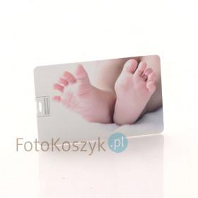 Pendrive Karta Kredytowa Stópki Kolor (do wyboru pojemność 2-32 GB)