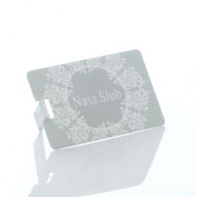 Pendrive Karta Kredytowa Nasz Ślub Szara (do wyboru pojemność 2-32 GB)